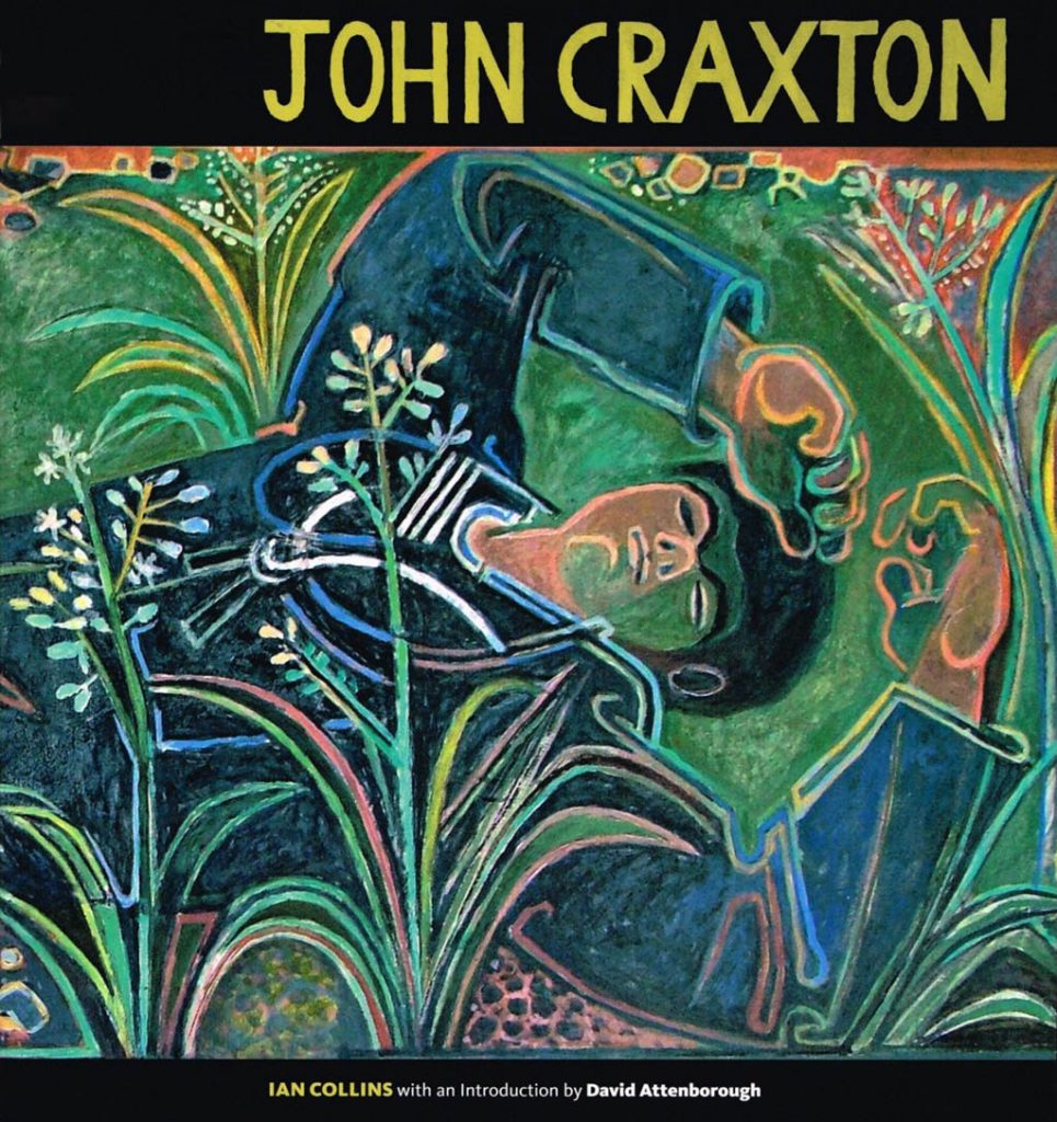 Colour illustrated book cover of John Craxton by Ian Collins